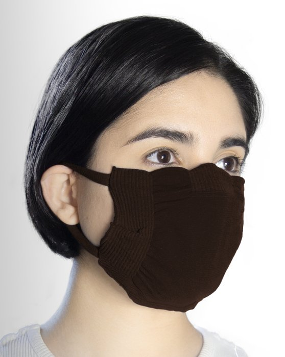 Brown Washable Color Mask