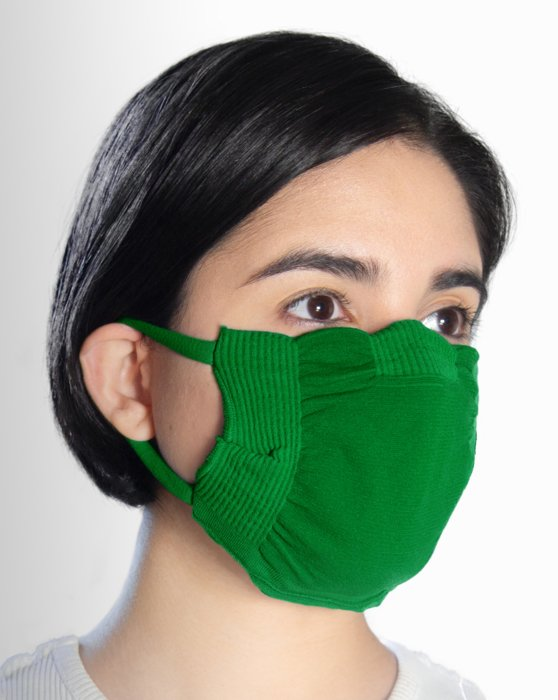 Kelly Green Washable Color Mask