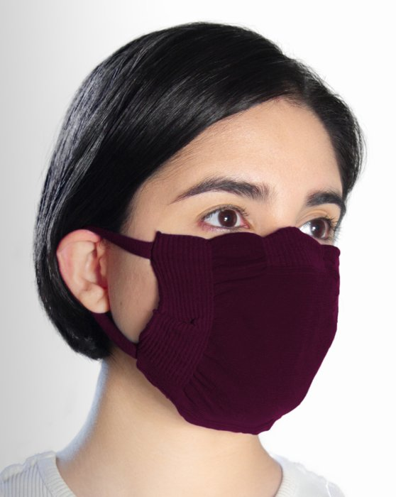 Maroon Washable Color Mask