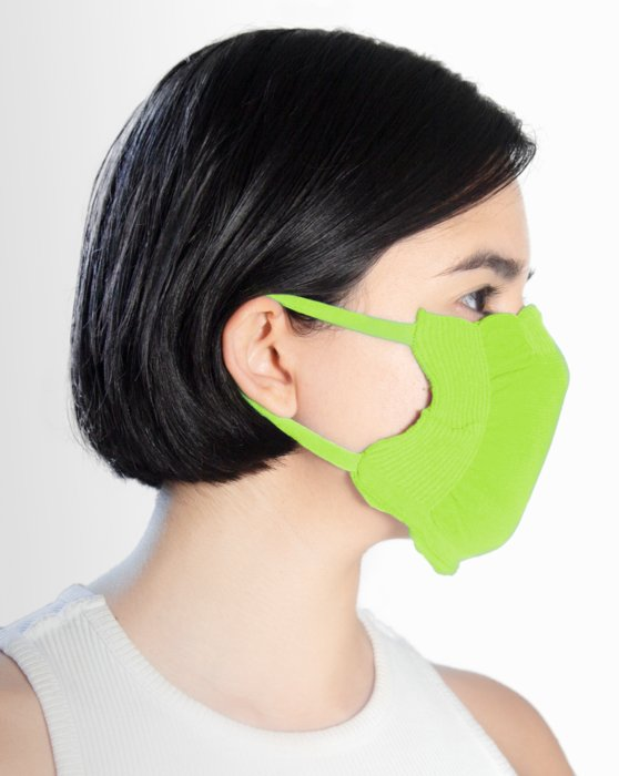 8021 Neon Green Face Mask