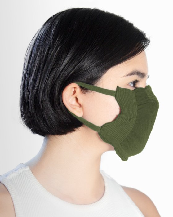Olive Green Washable Color Mask Style# 8021 | We Love Colors