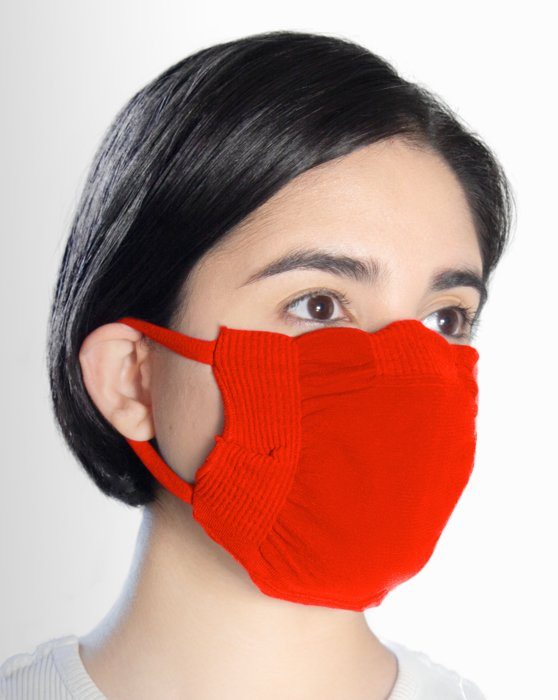 Scarlet Red Washable Color Mask