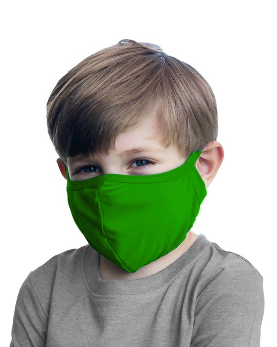 Kelly Green Kids Washable Color Mask Style# 8075 | We Love Colors