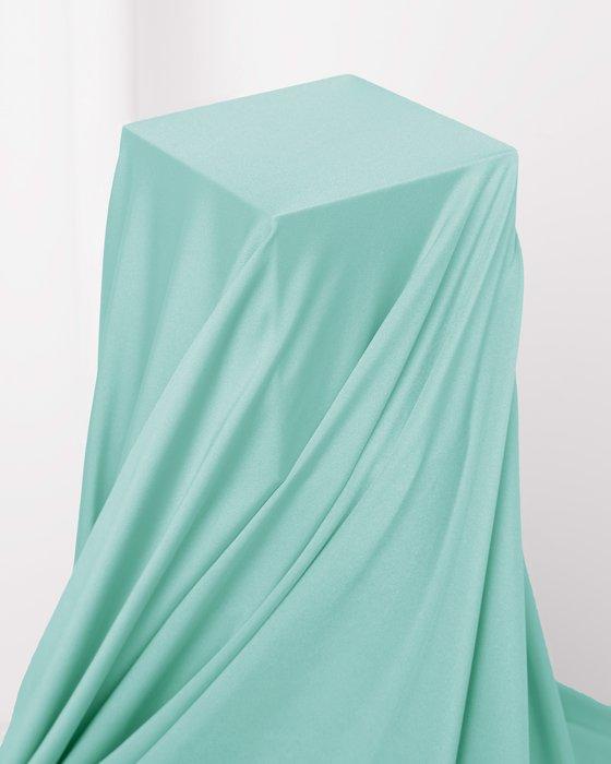 Dusty Green Fabric Shiny Tricot
