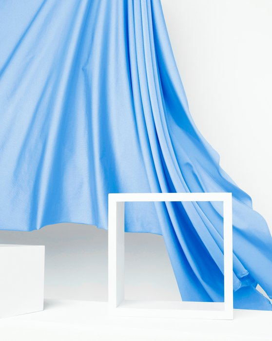 Sky Blue Fabric Shiny Tricot Style# 8079   We Love Colors