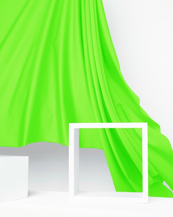 Neon Green Fabric Shiny Tricot