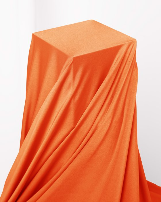 Orange Fabric Shiny Tricot