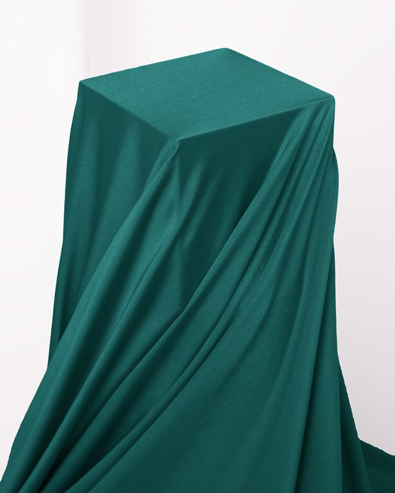 Spruce Green Fabric Shiny Tricot