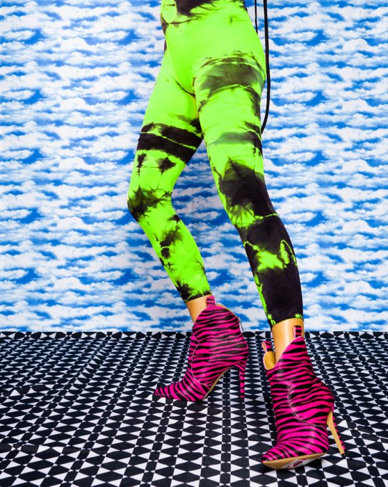 Scout Green Splash Colors Footless Tights 3 Pack Style# 8204 | We Love Colors