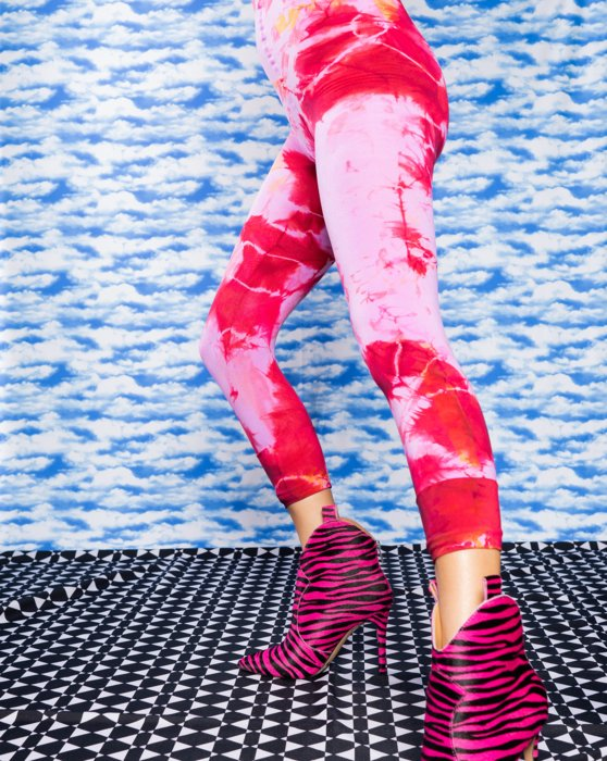 Sky Blue Splash Colors Footless Tights 3 Pack Style# 8204   We Love Colors