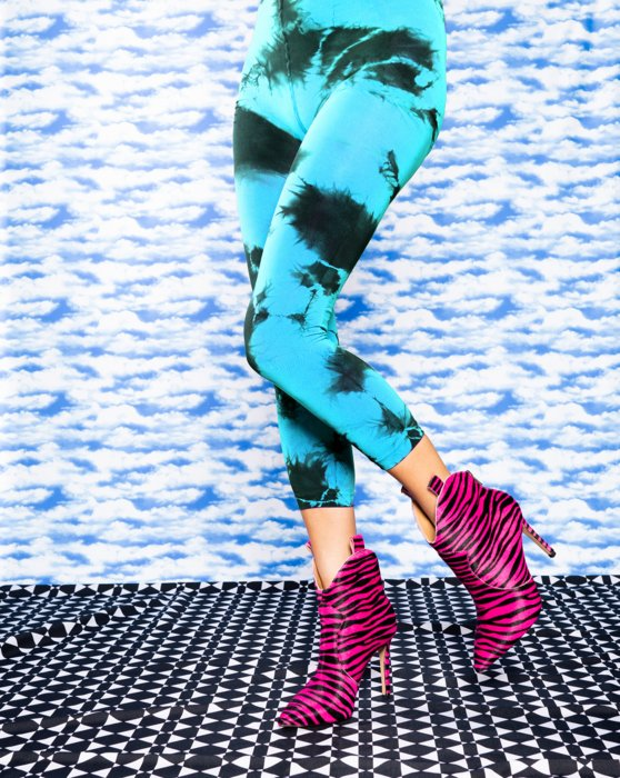 Turquoise Splash Colors Footless Tights 3 Pack Style# 8204 | We Love Colors