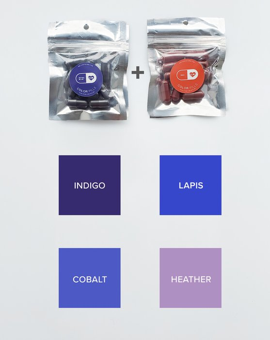 Color Pill Pack of Pro Dyes for Nylon