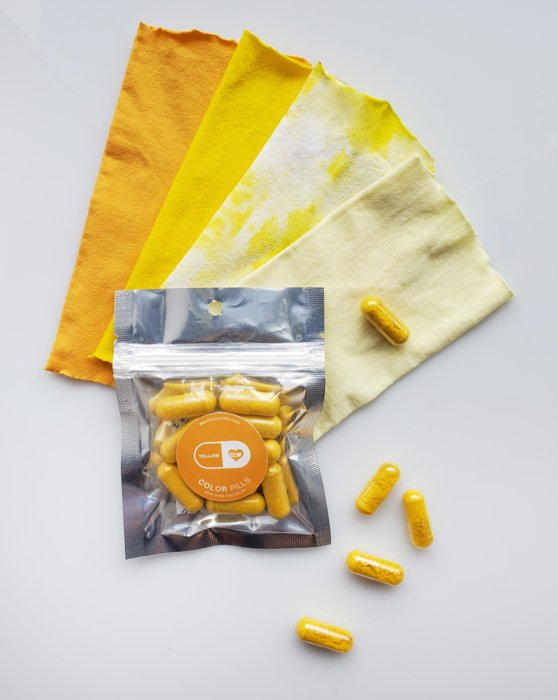 Yellow Color Pill Pack of Pro Dyes for Nylon