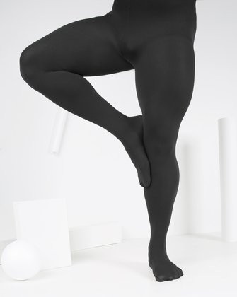 1023 Charcoal Solid Color Nylon Spandex M Opaque Tights