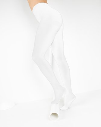 1023 W White Nylon Spandex Tights