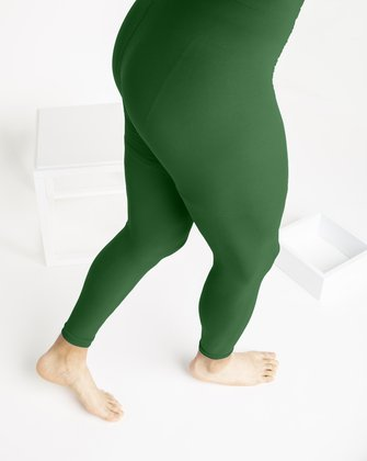 1025 Emerald Microfiber Footless Tights M
