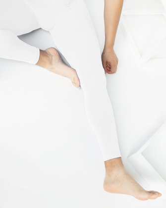 1025 M White Dance Footless Tights