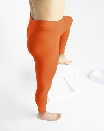70 Denier Fashion Colleciton Footless Tights in Neon Orange