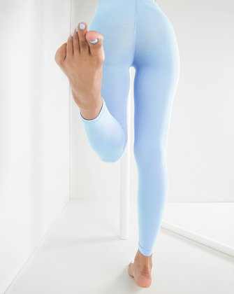 1025 W Baby Blue Footless Tights