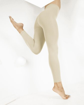 1025 W Light Tan Microfiber Footless Tights
