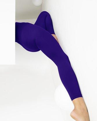 Kids Microfiber Footless Tights Purple 3 Pack