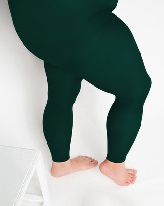 1041 W Hunter Green Footless Tights