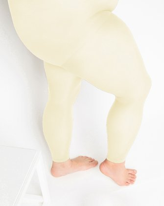1041 W Ivory Plus Size Footless Tights