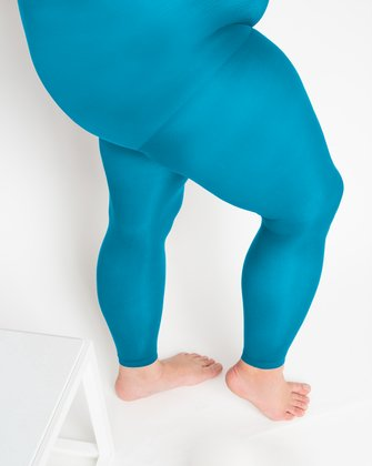 1041 W Turquoise Footless Tights