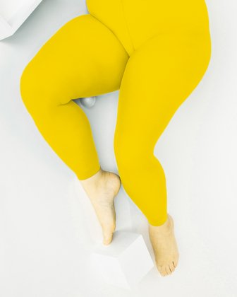 1041 W Yellow Plus Sized Footless Tights