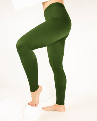 1047 W Olive Green Tights