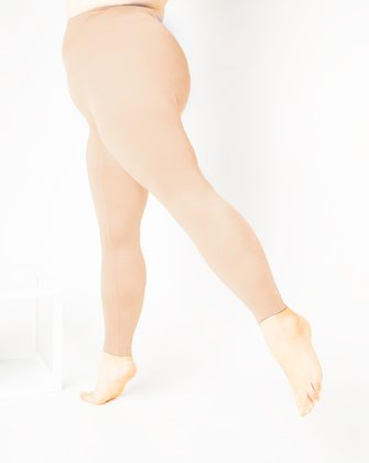 1047 W Peach Footless Performance Tights