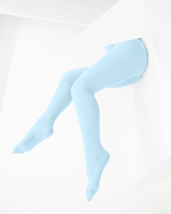 1053 Aqua Color Opaque W Microfiber Tights