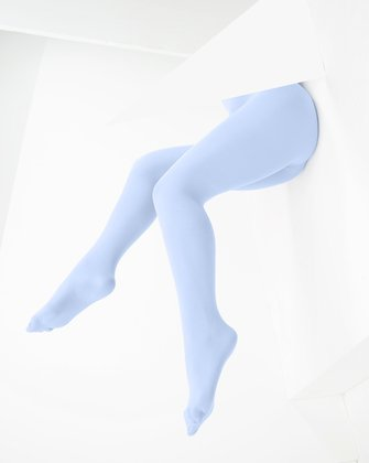 1053 Baby Blue Color Opaque W Microfiber Tights