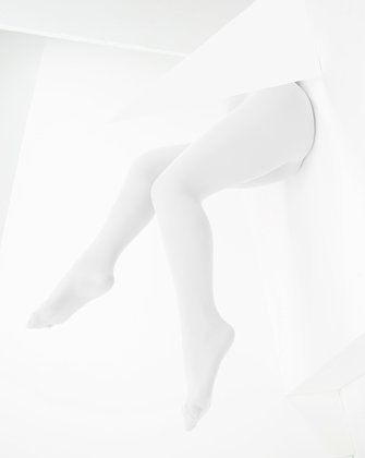 1053 W White Microfiber Tights