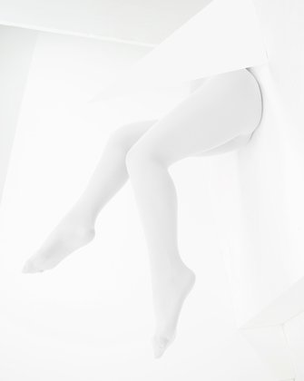 1053 White Color Opaque W Microfiber Tights