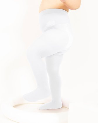 1073 White Kids Color Tights