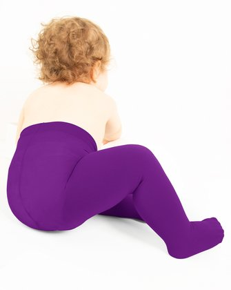 1075 Amethyst Kids Opaque Tights