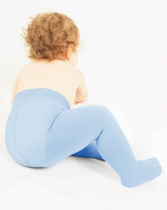 1075 Baby Blue Kids Microfiber Opaque Tights