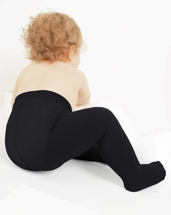 1075 Black Kids Microfiber Tights