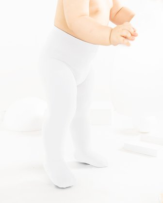 1075 Whitesoft Opaque Kids Microfiber Tights