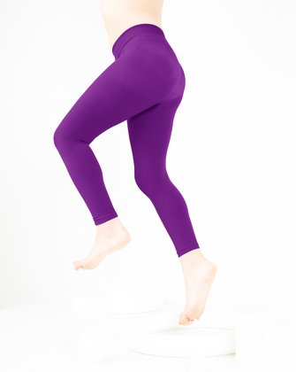 1077 Amethyst Kids Footless Tights