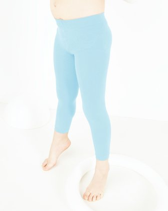 1077 Aqua Kids Footless Tights