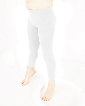 1077 White Footless Tights
