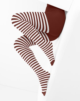 1203 White Stripes Red Tights