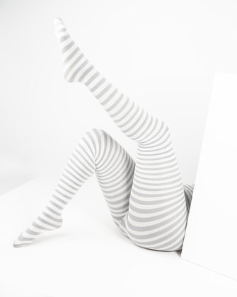 Light Grey Womens Patterned Tights | We Love Colors