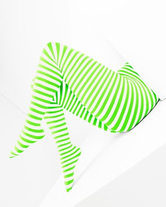 Neon Green Womens Patterned Tights | We Love Colors