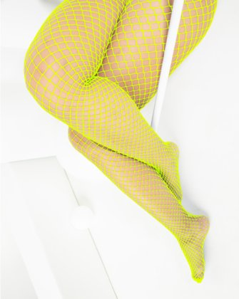 1403 Wide Net Fishnets Neon Yellow
