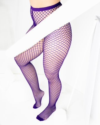 1403 Wide Net Fishnets Purple