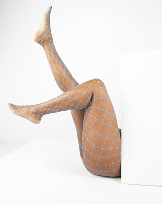 1405 Baby Blue Diamond Net Fishnets