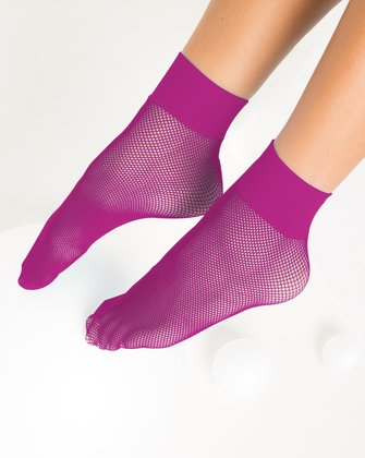 1429 Fuchsia Tiny Mesh Ankle Socks